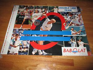 Tennis BABOLAT Double Line SAMPRAS IVANISEVIC BECKER FERNANDEZ TAUZIAT Poster