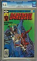 Daredevil #159 CGC 9.6 White Bullseye app Frank Miller
