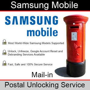 Samsung Mobile - Mail-in/Postal Unlocking/Debranding/Repair Service