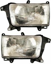Toyota T100 93-98 Headlights Headlamps Pair Set of 2 Left Lh & Right Rh New