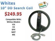 "Whites 10"" DD Search Coil For V3i,V3, DFX, MXT, M6  Series Detectors  Ships FREE"