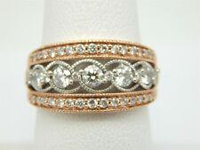 10K ROSE GOLD OPEN WORK .85 TCW DIAMOND STATEMENT RING SIZE 6.75