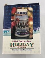 1995 Budweiser Holiday Stein Lighting The Way Home Brand New in Box