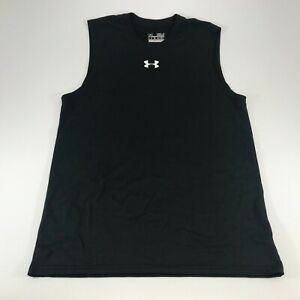 Under Armour Men's Black Sleeveless Muscle Shirt Loose Fit Size Small