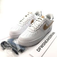 Nike Air Force 1 07 LV8 3 Men's 8.5 Removable Swoosh Pack White Tan CT2253-100