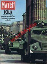 Paris Match 646 26/08/1961 Berlin Guerre froide Deauville Jeanne Moreau Espagne