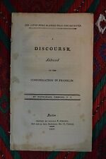 Antiquarian Boston Doc. Discourse to Congregation in Franklin by Emmons 1809