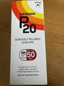 Riemann P20 Seriously ReliableSuncare SPF 50 Sun Protection Spray 200ml, NEW