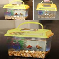HOT Plastic Starter Aquarium Fish Tank Reptile Insect Goldfish Cage Carry w