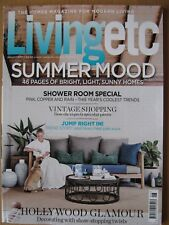 Living Etc August 2017 Summer Mood Shower Room Special Hollywood Glamour