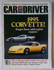 CAR & DRIVER MAGAZINE 1990 JULY CORVETTE MID ENGINE PORSCHE 944 CABRIO BMW M5