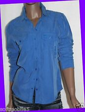 Abercrombie & Fitch Womens DARK BLUE Long Sleeved Casual Shirt MEDIUM