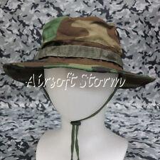 Airsoft Paintball Gear MIL-SPEC Marine Boonie Hat Cap Woodland Camo