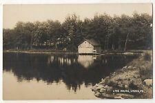 RPPC Lake Arline, CRESCO PA, Vintage Pennsylvania Real Photo Postcard