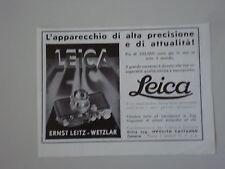 advertising Pubblicità 1937 LEICA - ERNST LEITZ WETZLAR