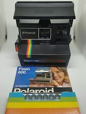 BOXED POLAROID SUPERCOLOR 'RAINBOW' 600 INSTANT FILM CAMERA WITH FLASH BAR boxed