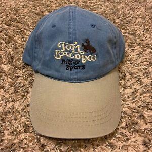 Vintage Tom Balding Bits & Spurs Cowboy Denim & Beige Adjustable Strapback Hat