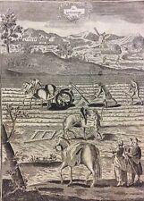 Le Labourage du début XVIIIe gravure sur bois anonyme XVIII Paysan Paysanne