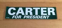 """Jimmy Carter Official """"Carter For Pres"""" 1976 President Campaign Bumper Sticker"""