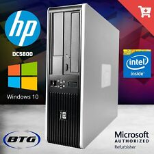 HP Desktop Computer Fast C2D 2.3GHz 4GB Ram 250GB HDD PC Windows 10 WiFi DVD HD
