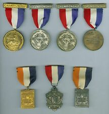 1956-1960 Silver New York State Weight Lifting Championship AAU Engraved Medals