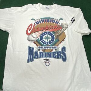 Vintage 1995 Seattle Mariners Starter MLB Shirt Division Champs Mens XL