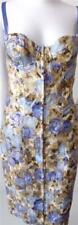 Philosophy di Alberta Ferretti Metallic Print Corset Dress Size 38