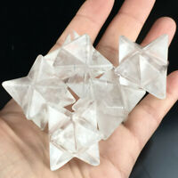 3x Natural Stone Merkaba Hexagram Pendant Reiki Healing Ornament Useful