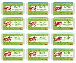 Scotch-Brite Ocelo Utility Sponge, 7243-T, Lot of 24 Sponges (12/2-Packs)