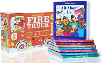 Richard Scarry's Books on the Go : Cars,Trucks,Boats+by Richard Scarry (Box Set)