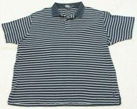 Ralph Lauren Polo Shirt Short Sleeve XXL Cotton Man's 2XL 2-Button Blue & White
