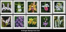 2020 US STAMP - Wild Orchids - Set of 10 Single (10 Coil Stamps) - SC# 5435-5444