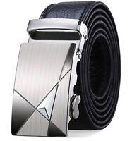 Siplion Men's leather belts 100% genuine Black