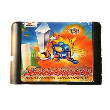 Sega Game MegaDrive Genesis Game Sparkster Rocketknight Adventures 2 Video Game