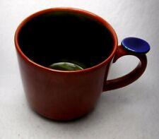 "LINDT-STYMEIST china YO HAN Rust & Olive Green Mug - 3-1/4"""