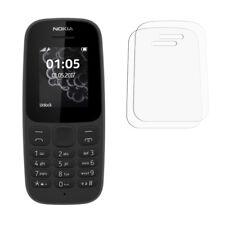 2 Transparente LCD Nokia 105 2017 Protector de Pantalla Ahorrador Para Móvil
