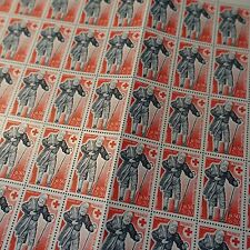 FEUILLE SHEET TIMBRE CROIX ROUGE RED CROSS N°1959 x50 1977 NEUF ** LUXE MNH