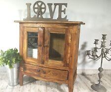 Petite Commode Chevet Bois Style Retro Vintage Ancien Marron Buffet Tiroir