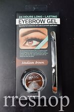 MAGIC COLLECTION: EYEBROW GEL MATTE MEDIUM BROWN - 24 HRS LONG LASTING 0.11 oz