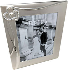 "8x10"" Portrait or Landscape Wedding Day Photo Frame Entwined Hearts Mr Mrs Gift"