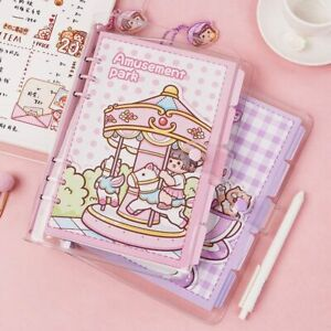 Cute PVC Soft Transparent A5 A6 Loose Leaf Notebook Journal Diary Kawaii Planner