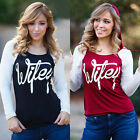 Sexy Womens Ladies Casual Long Sleeve Blouse Shirt T-Shirt Hoodie Pullover Tops