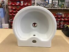 Venedik Designer round fronted cloakroom basin, in White