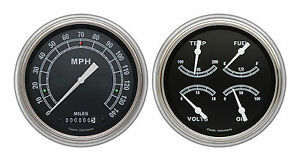 classic instruments 51-52 chevy car gauges ch51tr52 speedo with quad silver gray