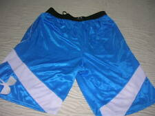 Mens Under Armour Basketball Shorts Large Loose Fit Blue & White Pockets