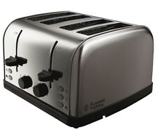 NEW RUSSELL HOBBS Kitchen Cooking Futura 4-Slice Slot Toaster - Stainless Steel