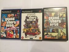 3 PLAYSTATION 2 PS2 GTA GAMES GRAND THEFT AUTO III 3 +VICE CITY + SAN ANDREAS