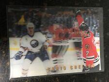 1996 PINNACLE HOCKEY CHRIS CHELIOS MCDONALD'S 3D CARD MCD-08 CHICAGO BLACKHAWKS
