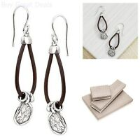 Silpada Sterling Silver And Leather Drop Earrings