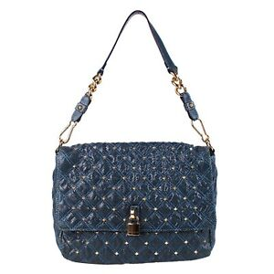 100% Authentic Marc Jacobs Python Leather Stardust Stud Beat Bag With Padlock